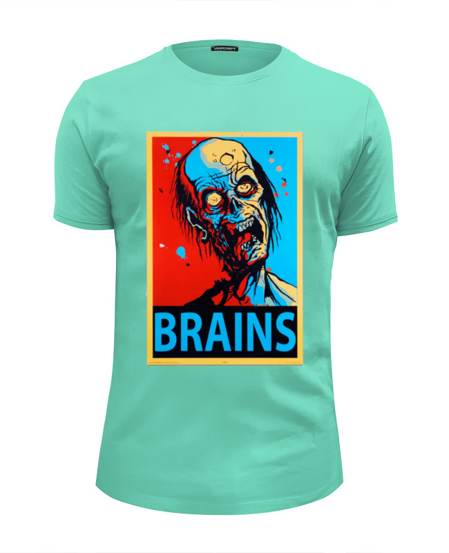 Футболка Wearcraft Premium Slim Fit Printio Мозги (brains) broken brains