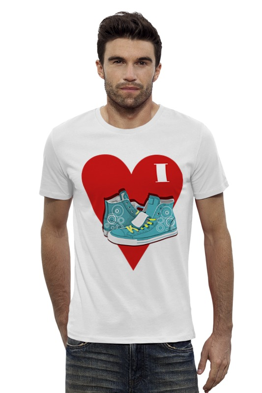 Футболка Wearcraft Premium Slim Fit Printio Я люблю кеды! футболка wearcraft premium slim fit printio я люблю мир