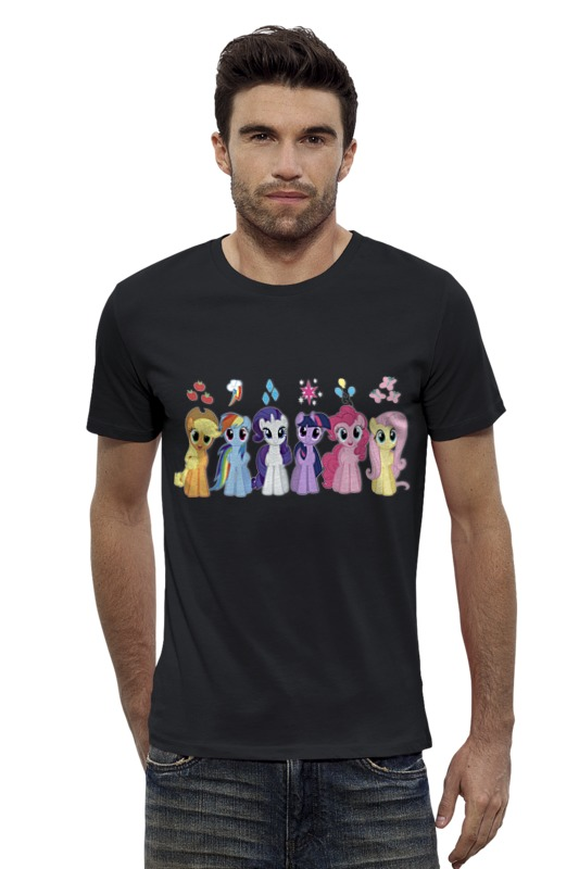 Футболка Wearcraft Premium Slim Fit Printio My little pony characters футболка wearcraft premium slim fit printio my government fucks me every day