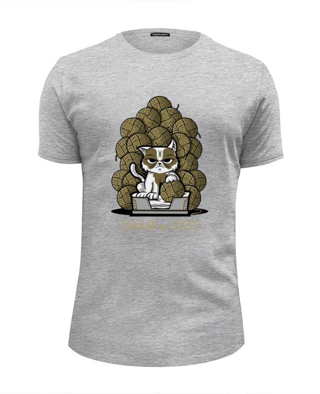 футболка wearcraft premium slim fit printio коты и кошки cats Футболка Wearcraft Premium Slim Fit Printio Game of cats