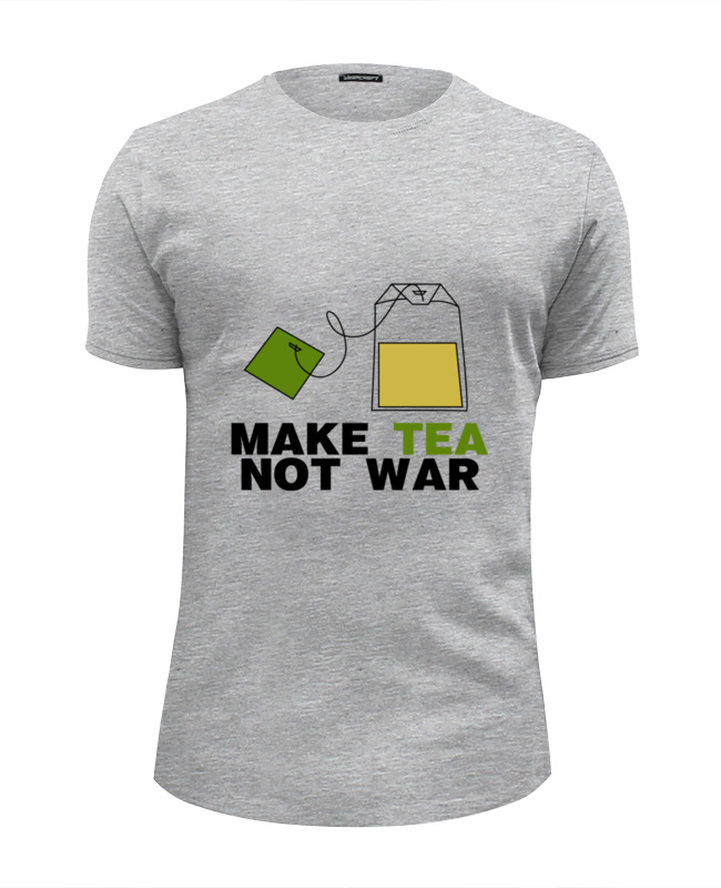 Футболка Wearcraft Premium Slim Fit Printio Make tea not war