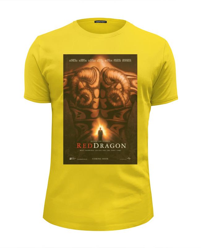Футболка Wearcraft Premium Slim Fit Printio Red-dragon / красный дракон футболка wearcraft premium printio китайский дракон
