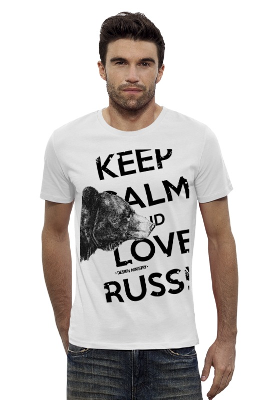Футболка Wearcraft Premium Slim Fit Printio Keep calm and love russia 2 by design ministry футболка wearcraft premium slim fit printio keep calm