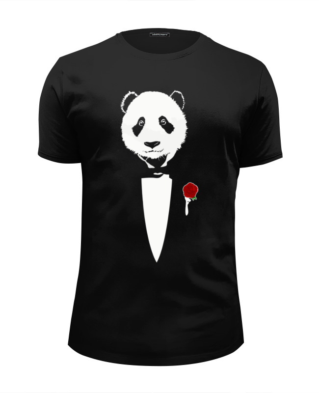 Футболка Wearcraft Premium Slim Fit Printio Panda godfather футболка wearcraft premium slim fit printio panda dab