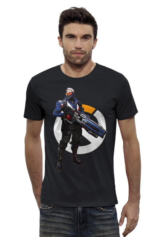 Футболка Wearcraft Premium Slim Fit Printio Overwatch soldier 76 / овервотч солдат 76 футболка wearcraft premium printio неизвестный солдат