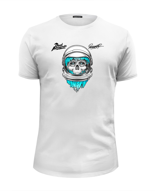 Футболка Wearcraft Premium Slim Fit Printio Dead astronauts astronauts in space