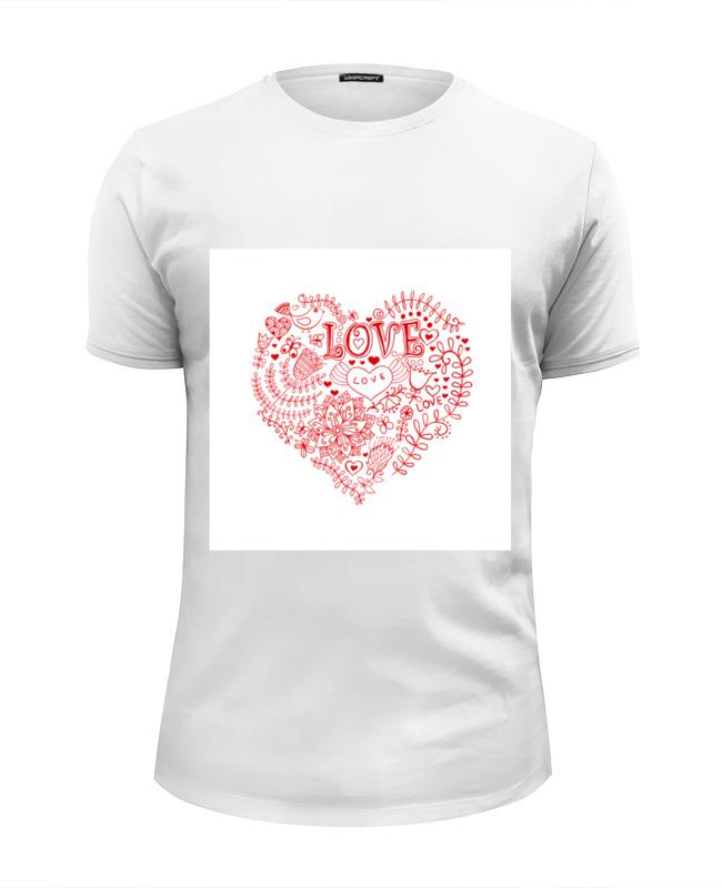 Футболка Wearcraft Premium Slim Fit Printio Love - 2 футболка wearcraft premium slim fit printio i love ny