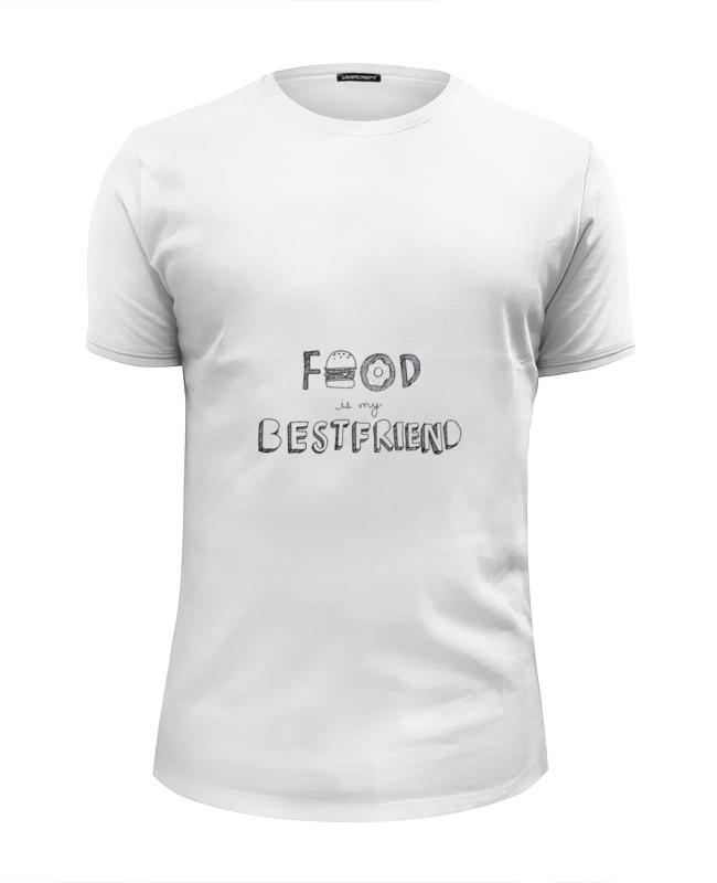 Футболка Wearcraft Premium Slim Fit Printio Food is my bestfriend футболка wearcraft premium slim fit printio junk food gang