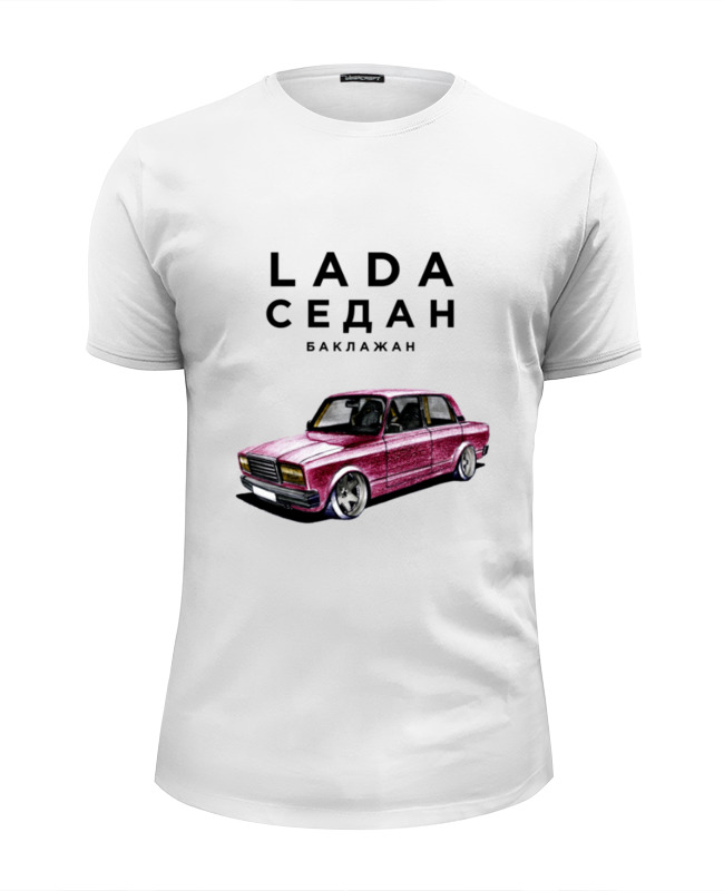 Футболка Wearcraft Premium Slim Fit Printio Lada седан by design ministry футболка wearcraft premium printio lada седан 2 by design ministry