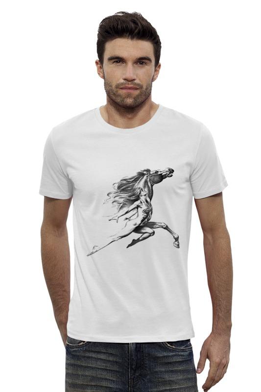 Футболка Wearcraft Premium Slim Fit Printio Девушка с конем. футболка wearcraft premium printio красота смертельна