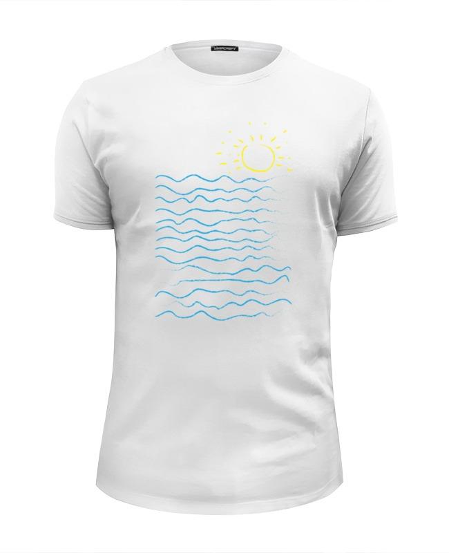 Футболка Wearcraft Premium Slim Fit Printio Море и солнце футболка wearcraft premium slim fit printio хочу на море