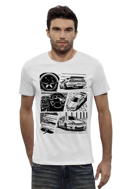 Футболка Wearcraft Premium Slim Fit Printio Nissan r33 футболка wearcraft premium slim fit printio nissan skyline r34