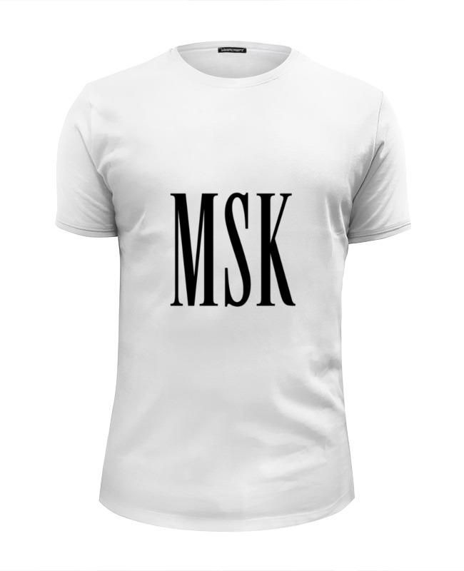 Футболка Wearcraft Premium Slim Fit Printio Города из трех букв - msk msk new ivory printed sleeveless dress 14w $69 dbfl