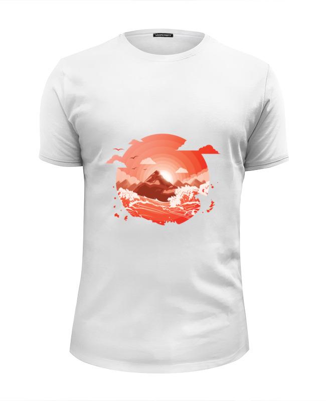 Футболка Wearcraft Premium Slim Fit Printio Красный рассвет над горами футболка рассвет