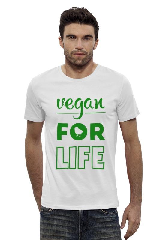 Футболка Wearcraft Premium Slim Fit Printio Vegan for life отсутствует природные ресурсы и окружающая среда