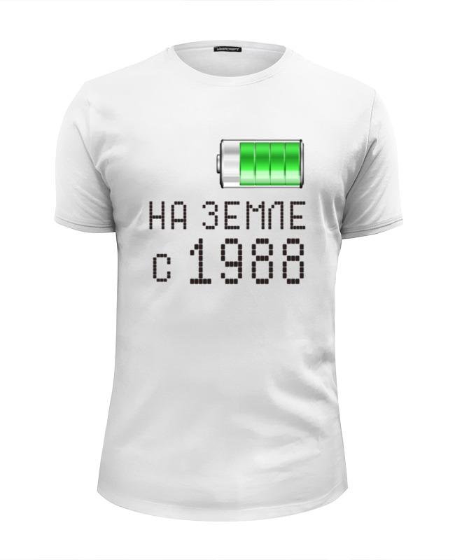 Футболка Wearcraft Premium Slim Fit Printio На земле с 1988 футболка wearcraft premium printio на земле с 1970