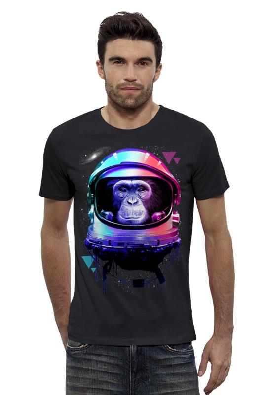 Футболка Wearcraft Premium Slim Fit Printio Обезьяна космонавт футболка wearcraft premium slim fit printio космонавт