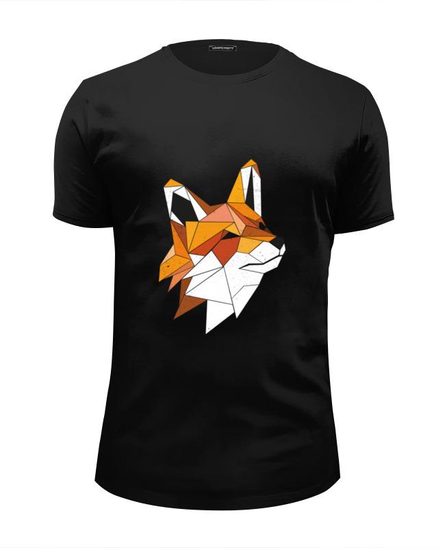 Футболка Wearcraft Premium Slim Fit Printio Геометрическая лиса футболка wearcraft premium printio геометрическая лиса