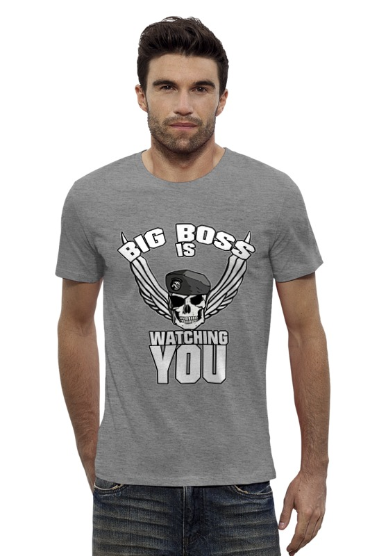 Футболка Wearcraft Premium Slim Fit Printio Big boss is watching you футболка wearcraft premium slim fit printio sans boss