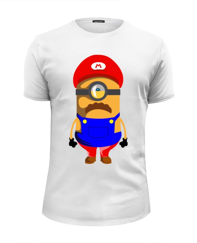Футболка Wearcraft Premium Slim Fit Printio Марио миньон футболка wearcraft premium slim fit printio миньон