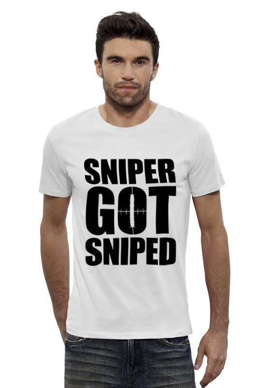 Футболка Wearcraft Premium Slim Fit Printio Sniper got sniped футболка wearcraft premium slim fit printio sniper