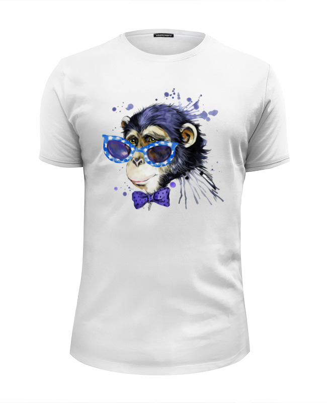 Футболка Wearcraft Premium Slim Fit Printio Art monkey 2016 monkey business футболка