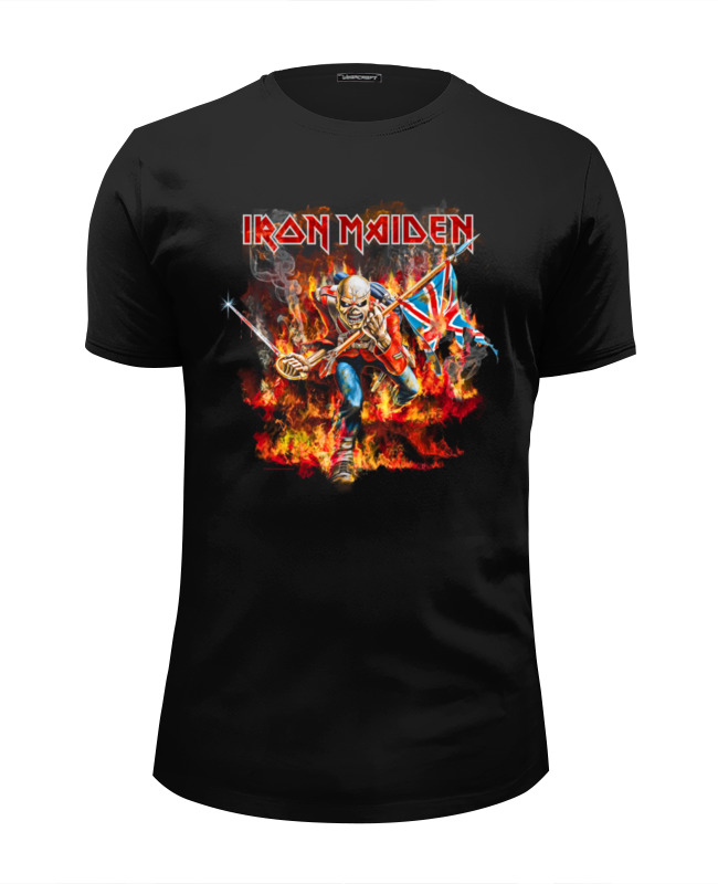 Футболка Wearcraft Premium Slim Fit Printio Iron maiden band футболка iron maiden