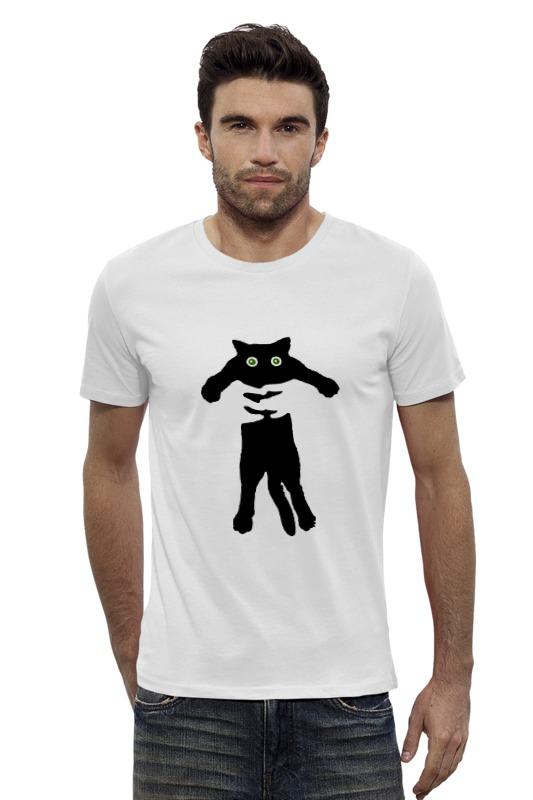 Футболка Wearcraft Premium Slim Fit Printio Кот в руках бенгальского котенка в егорьевске