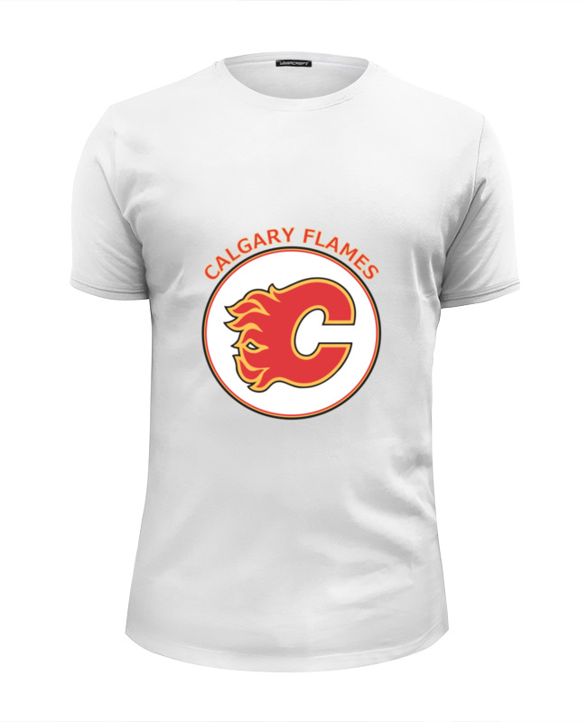 все цены на Футболка Wearcraft Premium Slim Fit Printio Calgary flames