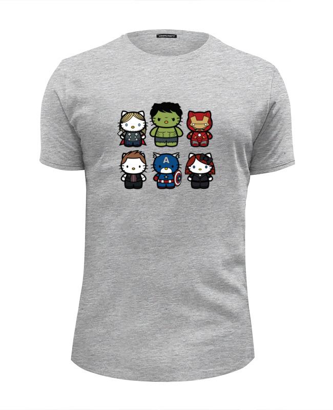 Футболка Wearcraft Premium Slim Fit Printio Hello kitty x avengers футболка wearcraft premium printio hello kitty привет киска