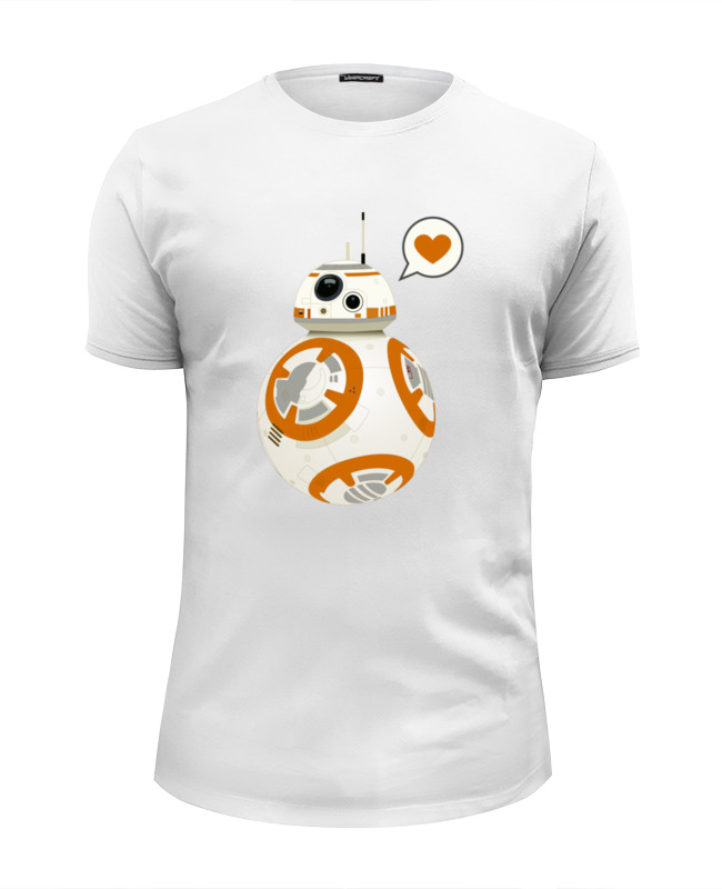 Футболка Wearcraft Premium Slim Fit Printio Sphero's star wars bb-8 droid star fit bb 203