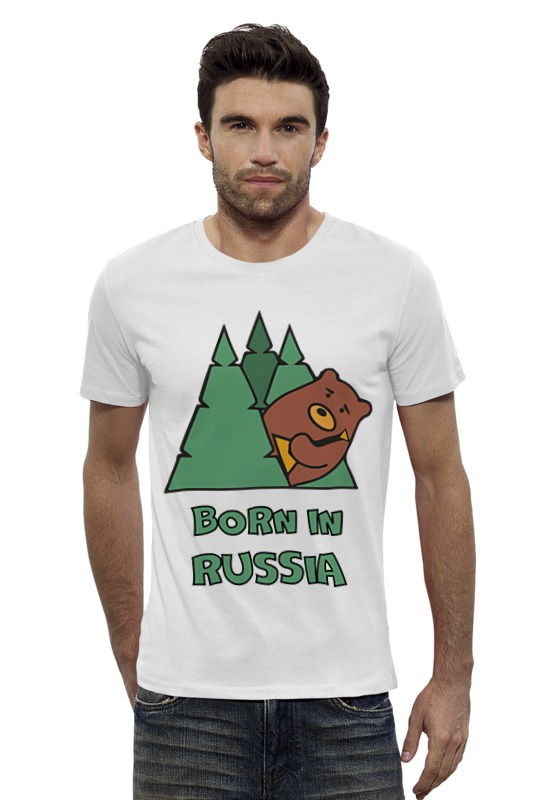 Футболка Wearcraft Premium Slim Fit Printio Born in russia (рожден в россии) voluntary associations in tsarist russia – science patriotism and civil society