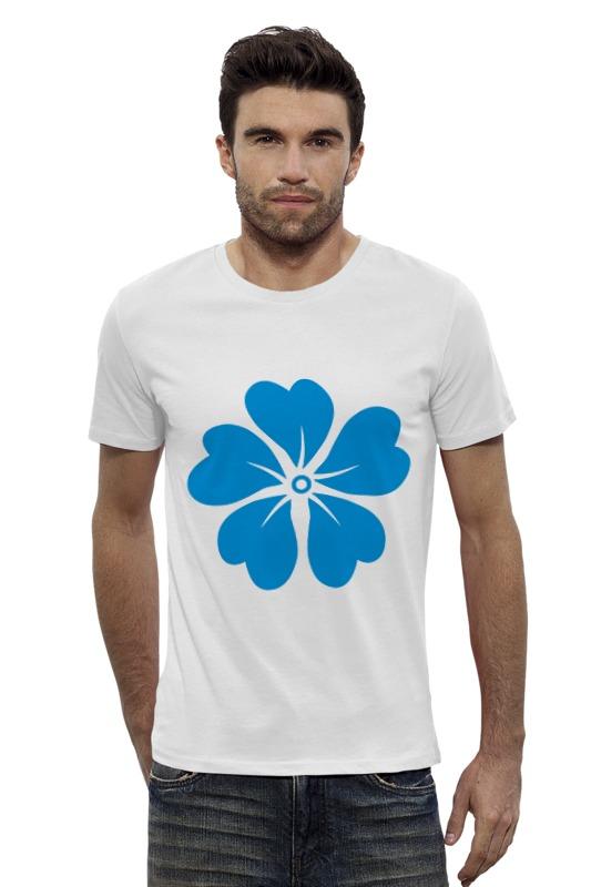 Футболка Wearcraft Premium Slim Fit Printio Голубой цветок reikartz рубашка reikartz slim fit 100506 1 белый голубой