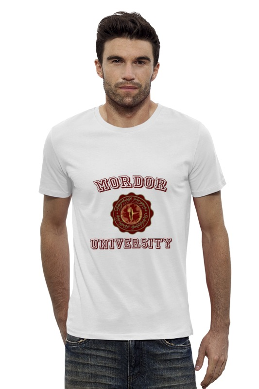 Футболка Wearcraft Premium Slim Fit Printio Mordor university футболка стрэйч printio властелин колец lord of the ring