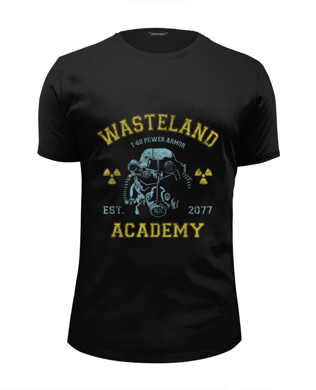 Футболка Wearcraft Premium Slim Fit Printio Fallout. wasteland academy футболка wearcraft premium slim fit printio mr handy fallout