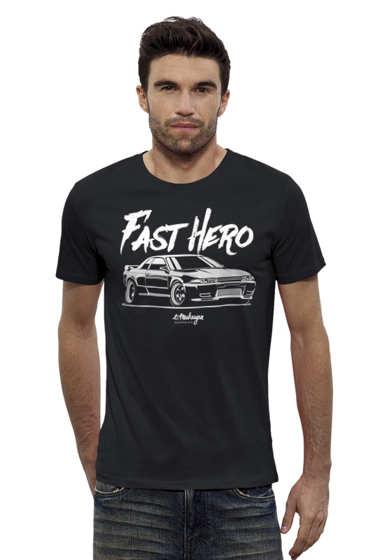 Футболка Wearcraft Premium Slim Fit Printio Nissan r32 футболка wearcraft premium slim fit printio nissan skyline r34