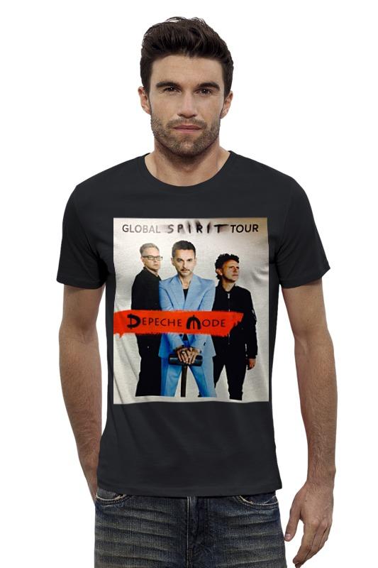 Футболка Wearcraft Premium Slim Fit Printio Depeche mode - global spirit tour сумка printio depeche mode spirit tour