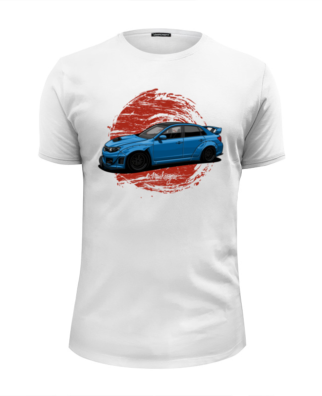 Футболка Wearcraft Premium Slim Fit Printio Subaru sti