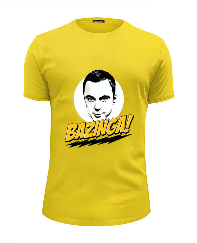 Футболка Wearcraft Premium Slim Fit Printio Bazinga! футболка wearcraft premium slim fit printio bazinga