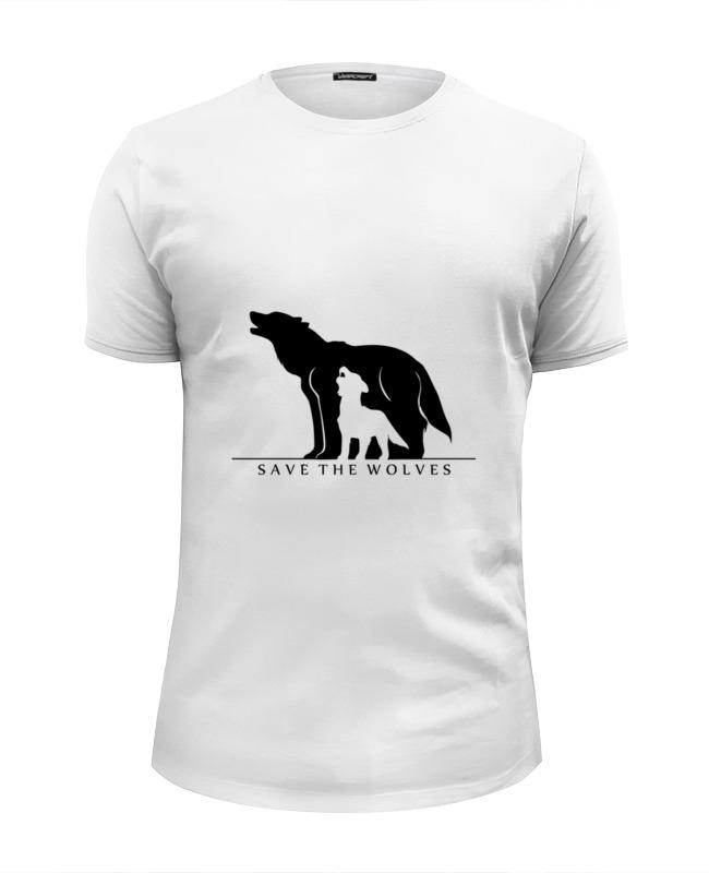 Футболка Wearcraft Premium Slim Fit Printio Сохранить волков футболка print bar битва волков