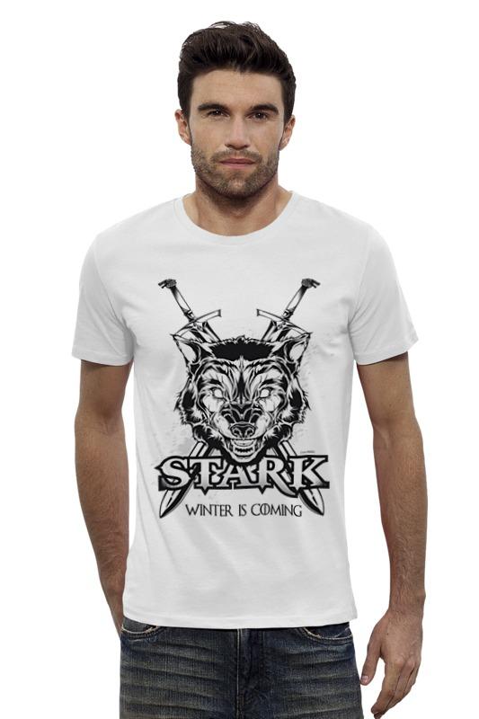 Футболка Wearcraft Premium Slim Fit Printio Волк старков (игра престолов) футболка wearcraft premium printio игра престолов