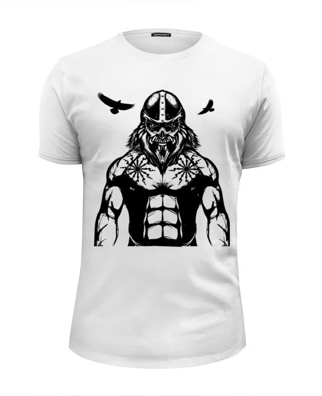 Футболка Wearcraft Premium Slim Fit Printio Викинг. воинам смерти нет !!! футболка викинг