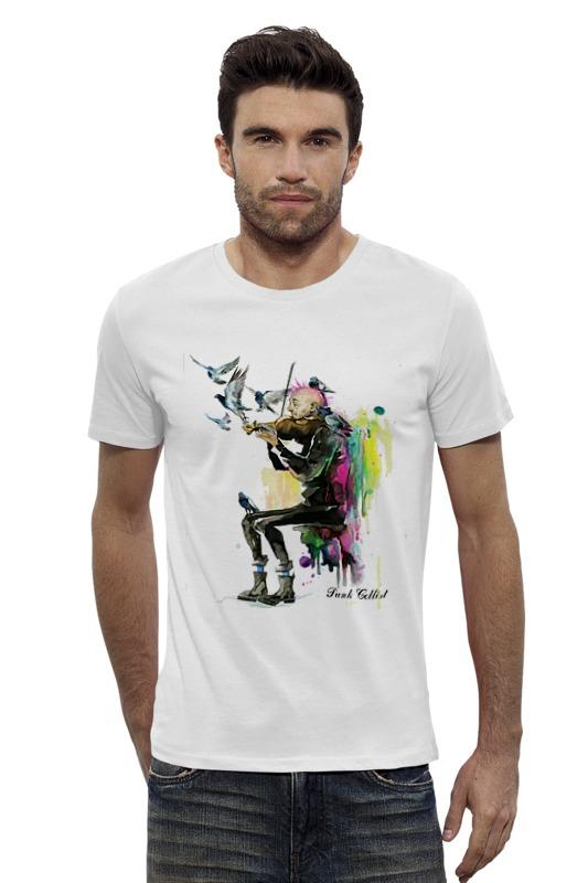 Футболка Wearcraft Premium Slim Fit Printio Панк виолончелист - punk cellist панк футболки в минске