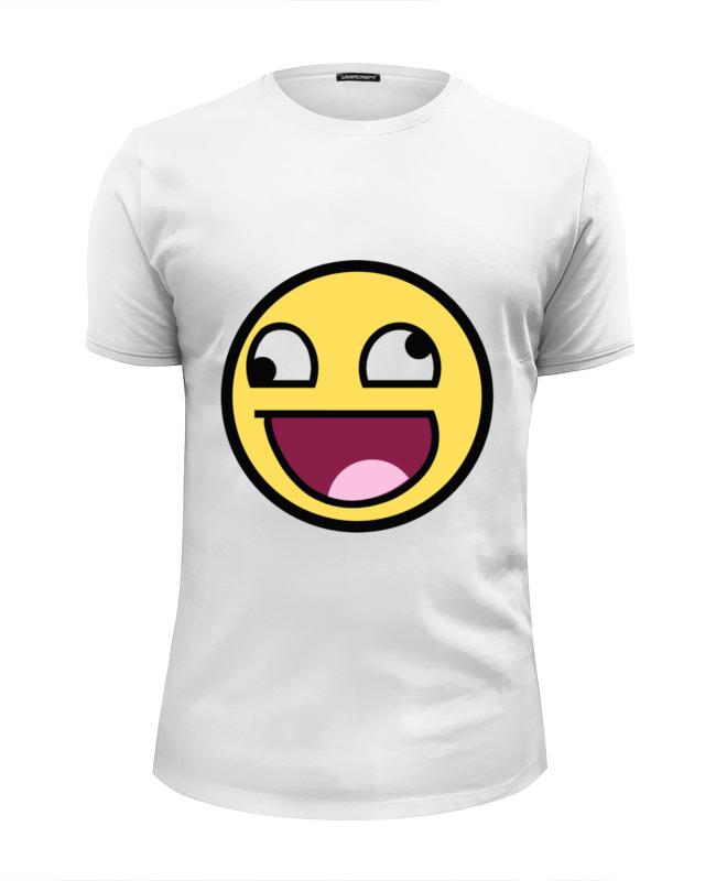 цена Футболка Wearcraft Premium Slim Fit Printio Awesome smile