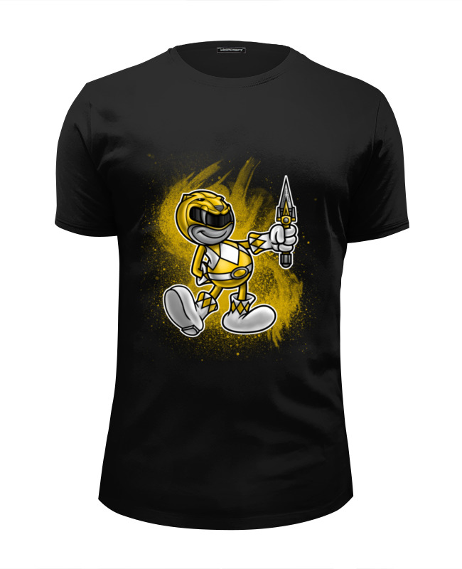 Футболка Wearcraft Premium Slim Fit Printio Желтый рейнджер футболка wearcraft premium printio чёрный рейнджер