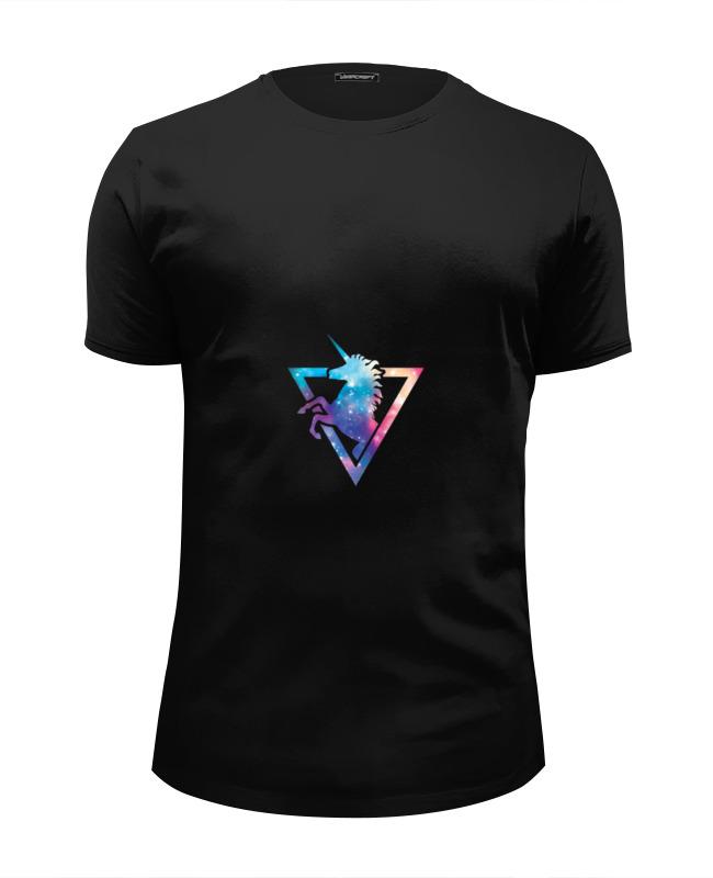 Футболка Wearcraft Premium Slim Fit Printio Космический единорог футболка wearcraft premium slim fit printio единорог