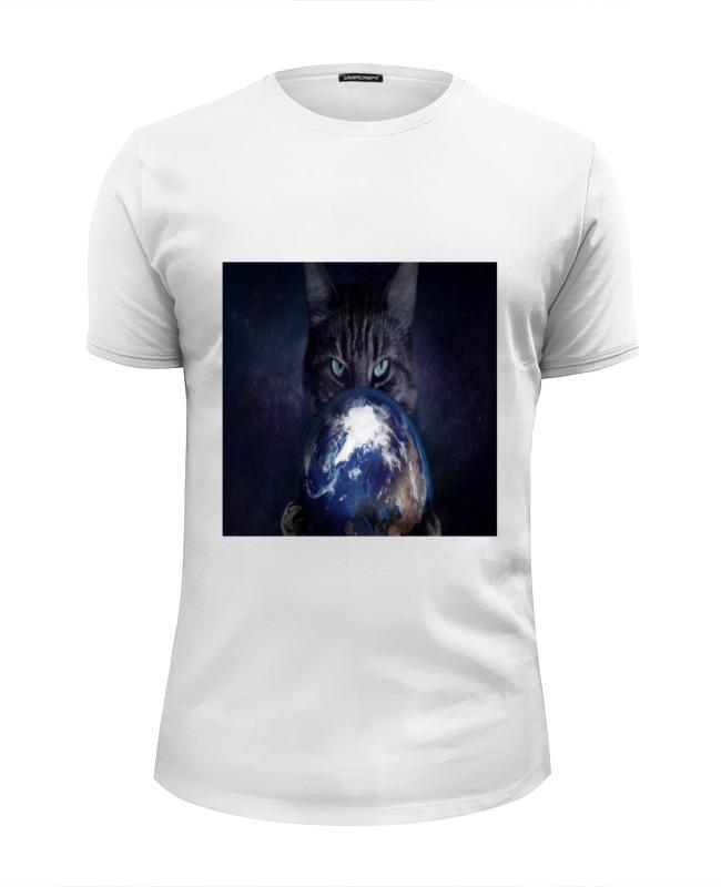 Футболка Wearcraft Premium Slim Fit Printio Кошка футболка wearcraft premium slim fit printio black cat черная кошка
