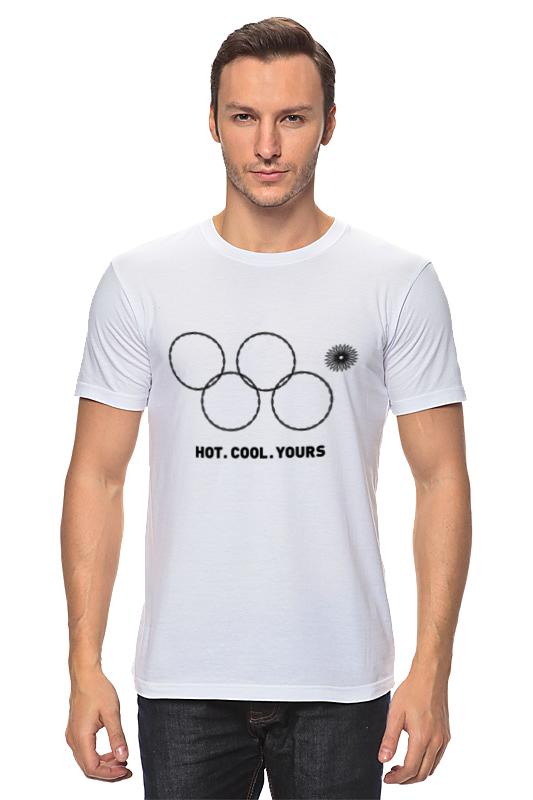 Футболка Wearcraft Premium Slim Fit Printio Олимпийские кольца в сочи 2014 кольца кюз дельта 114454 d