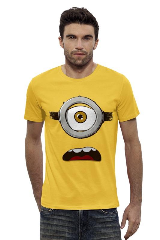 Футболка Wearcraft Premium Slim Fit Printio Глаз миньона серая футболка для мальчика миньона 38