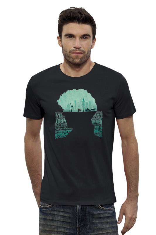 Футболка Wearcraft Premium Slim Fit Printio Шерлок футболка wearcraft premium slim fit printio кит ричардс
